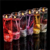 essentielle hochzeit großhandel-Heiße Aromatherapie rauchlose Kerzen Ozean Muscheln Gelee ätherisches Öl Hochzeitskerzen romantische Duftkerzen Farbe zufällig