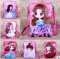 Wholesale Doll Pattern Woman - 2017 new pattern of explosion of cartoon doll children women Satchel Handbag PU cute bag