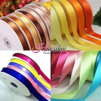 Wholesale Craft Beige Ribbon - 6mm-51mm Width 100yards Satin Ribbon Wedding Party Festive Event Decoration Crafts Gifts Wrapping Apparel Sewing Fabric Supplies