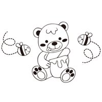 Wholesale Bear Wall Decals - 9170 Cute Lovely Bear Wall Sticker For Nursery Kids Wall Art Animals Fishes Decal Free Shipping