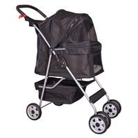 Wholesale Trolley Stroller - 4 Wheels Pet Stroller Cat Dog Cage Stroller Travel Folding Carrier 5 Color