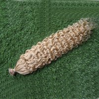 Wholesale Stick Virgin Hair - 613 Bleach Blonde brazilian virgin i tip human hair extens 100g keratin stick tip hair 100s pre bonded keratin stick tip human hair