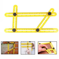 Wholesale Wholesale Scale Rulers - Angle-izer Angle Measure Adjustable Four-Sided Folding Measuring Tool Multi-Angle Template Scale Ruler Measures All Angles in stock