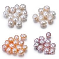 Wholesale natural pink pearl necklace - AAA 6-10mm Teardrop Natural Freshwater Oyster Pearl Loose Beads 30pcs Lot Loose Pearl For DIY Jewelry Fit Bracelets Necklace