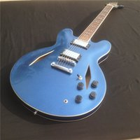 Cool Jazz Electric Guitar, 335, firma Dave Grohl, Metalic Blue Hollow Body Archtop Guitarra, envío gratis