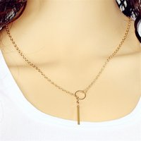 Wholesale Plastic Bibs For Necklaces - Elegant Women Gold Color Multilayer Choker Statement Bib Chain Pendant Necklace for mon girlfriend birthday gift