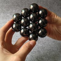 Wholesale Magic Beads Toys - Black Magnetic Balls Spheres Big Beads Magic Cube Magnets Puzzle Block Cube Magico Christmas Present 16mm OTH629