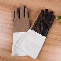 Wholesale Safety Wears - PU Lengthen Safety Gloves Wear-resisting temperature resistance Electric welding Comfortable Gloves for Workers Safely Labor Protective