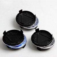 Wholesale Abs S - 75mm Wheel Center Hub Caps fit for A B C E S GL ML Auto Car Blue Dark blue Black with Wreath