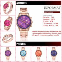Wholesale Geneva Classic - 2017 burst fashion stainless steel with a watch 14 color Geneva classic three-sided double-sided watch wholesale