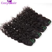 Wholesale Cambodian Virgin Curly Weave - Cosy Peruvian Curly Hair 6 Bundles Deal Indian Brazilian Malaysian Water Wave Human Hair Weaves Extensions Virgin Human Hair Weft