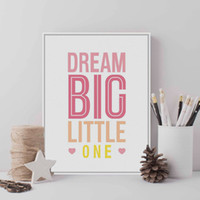 Modern Motivational Typography Dream Quotes A4 Pink grandes impresiones del arte Poster Wall Pictures Canvas Painting Kids Room decoración del hogar
