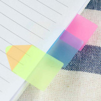 Wholesale New Sets Plastic Candy Color Pencil Stub Shape Memo Pad Fluoresc Sticky Notes Post It Page Flag Index With Cm Rulers Papelaria