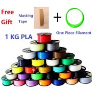Wholesale 1KG Color Hight Quality D PLA Filament mm For D Printer Plus Free Masking Tape and One Piece Filament