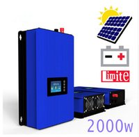 Wholesale Inverter Batteries - 2000W Battery Discharge Power Mode MPPT Solar Grid Tie Inverter with Limiter Sensor DC 45-90V AC PV connected