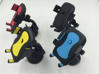 Auto Sucker Phone Stand Holder Navigare Custodia Per iPhone 5S 6 S Plus Per Samsung Galaxy S5 S6 360 Presa di Rotazione Supporto per parabrezza
