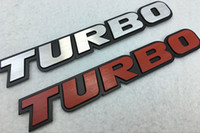 Wholesale Car Exterior Decoration Accessories - TURBO CHARGED Car-styling TURBO Car Stickers Emblems Decorations TURBOCHARGING Car Exterior Tail Decals Accessories