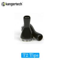 kanger t2 ego temizleyici toptan satış-Kanger eGo için Kanger Ağızlık Ucu / T2 2.4 ml CC (Bobin Değiştirilebilir) Temizle Cartomizer / Clearomizer Elektronik Çiğ Damlalar