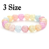 3 taille Belle perles rondes rondes Rose Natural Stone Stretch Bracelet de bonne chance Lady Girl Lover Gift Free DHL B539S