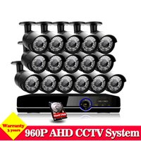 AHD 16CH 1080P Videoüberwachung CCTV System HVR NVR AHD DVR Kit mit 16pcs In / Outdoor 1.3MP 960P Sicherheitskameras Home Kits