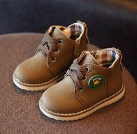 Wholesale Shoes For Male Babies - 2017 New Spring Children Leather Shoes 2017 Boys Breathable Party Baby Shoe Male Loafers Casual Flat Kids Shoes For Boy Lace-up Tide