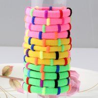 Wholesale Packing For Hair Bands - Wholesale- 1 pack=12pcs Girl Colorful Gum Ties Elastic Hair Bands Ponytail Holders Headband Scrunchie Baby Hair Accessories Gum for Hair