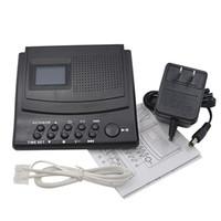 Wholesale Digital Phone Caller Id - Professional Telephone Recorder Digital Voice Recorder Dictaphone Phone Call Monitor MP3 Player LCD Display + Caller ID + Clock