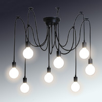 lanternas clássicas venda por atacado-Retro clássico lustre E27 aranha lâmpada pingente titular grupo Edison diy lâmpadas de iluminação lanternas acessórios mensageiro fio