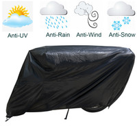 Wholesale Motorcycle Rain Covers - Motorcycle Covers Waterproof Dust-proof Outdoor Rain UV Protector Scooter Cover for Motorcycle BMW Motorbike Harley Davidson Black-XXX-L