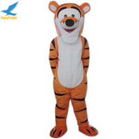 Wholesale Tigger Outfits - 2017 Tigger Mascot Costume Tiger Winnie Fancy Dress Outfit Adult Size for Birthday Party Free Shipping Accept Drop Shipping