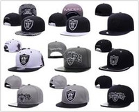 Wholesale Men Sun Visors - Wholesale Black Adjustable Embroidery Oakland Raider Snapback Hats Outdoor Summer Men Basketball Caps Sun Visors Cheap Women Basketball Cap