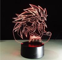 Wholesale Dragon Touch - Figurines Dragon ball z super saiyan 3 goku 3d table lamp 2017 New 7 color changing figuras dragon ball z vegeta arti culados