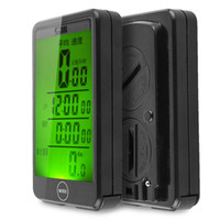 Wholesale wireless odometer - Water Resistant Computer Odometer Wireless Bike Cycling Bicycle Code Table Shock Proof Touch Button LCD Fashion Useful Backlight 40ka I