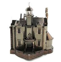 Wholesale 3d Puzzle Castle Building Toy - Haunted Castle Piececool 3D Metal Puzzle Colorful Assembly Laser Cut Toy Jigsaw Artwork DIY Building Block