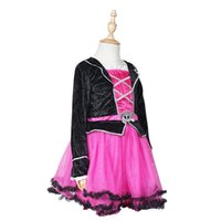 Wholesale Teenage Pirate Costume - Pirate Pink Princess Tutu Dress Costume Girls Dresses Pageant Lace Formal Dress Halloween Carnival party cosplay