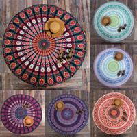 outdoor sun decor - Hot Style Indian Round Mandala Tapestry Wall Hanging Throw Towel Yoga Mat Blanket Sun Bath Shawl Outdoor Picnic Decor