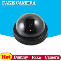 Wholesale Cctv Fake Ir - Fake Dummy IR Camera Waterproof Outdoor Security CCD Camera Fake CCTV Camera with Retail Package