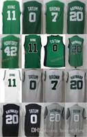 Wholesale Gray Men S Basketball - 2017 New Trade 11 Kyrie Irving Jerseys 7 Jaylen Brown 0 Jayson Tatum 42 Al Horford 20 Gordon Hayward Jersey Green White Black Gray Man S-3XL