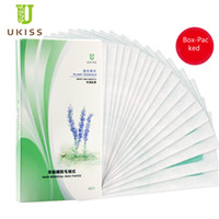 Wholesale Double Face Paper - 2017 New Rushed Ukiss Jean Rena Hair Removal Wax Paper Professional Double Side Strips Remover Bikini Leg Arm Face Free Shipping