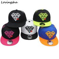 Wholesale Diamond Snapback For Girls - Wholesale- Fashion Boy Baseball Caps For 3-8 Years Old Kid Diamond Design Snapback Caps High Qaulity Adjustable Cap For Girl CC035