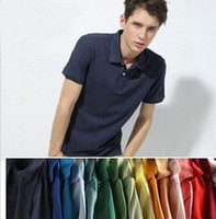 Wholesale red high waisted shorts - free shipping high quality men's fashion shirt Sports leisure short sleeve shirt 100% cotton golf T-shirt men casual shirts plus size XS-4XL