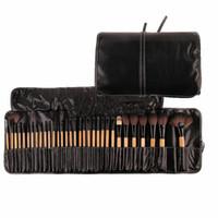 meilleur ensemble de pinceaux de maquillage professionnel achat en gros de-32Pcs Imprimer Logo Pinceaux De Maquillage Cosmétiques Professionnel Make Up Brush Set La meilleure qualité
