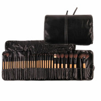 Wholesale best professional cosmetic brush set for sale - Group buy 32Pcs Print Logo Makeup Brushes Professional Cosmetic Make Up Brush Set The Best Quality