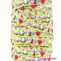 düşman şerit toptan satış-Şerit toptan / OEM 5/8 inç 15mm 160603007 karikatür tasarım elastik FOE üzerinde kat için saç kravat ücretsiz kargo