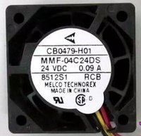 Wholesale 4cm Fan - MR-J3 J4 driver fan, CB0479-H01 MMF-04C24DS-RCB DC24V 0.09A 3wires MMF-04C24DS RCB 4cm Inverter Fan