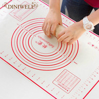 Wholesale Table Sheets - Wholesale- Kitchen Cooking Tools 60*40CM Baking Liners Dough Silicone Bake Mat Sugar Craft Pastry Roll Non-stick Sheet Table Pad