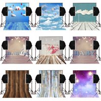 Wholesale Children Cartoon Background - 5x7FT twinkle star brown wood cartoon cloudy photos background for baby newborn camera fotografica studio photography backdrops vinyl