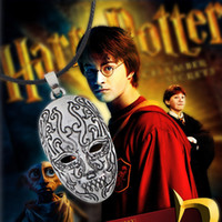 Wholesale Harry Potter For Sale - Hot Sale Top Grade Movie Potter Death Eater Mask Pendant Necklace Gift for kids Men Women Cosplay Mask Harry Necklace Toy