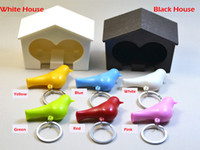 Whistle Bird House Couple Lover chaveiros, Wall Mount Hook Key Holder Chaveiro de plástico chaveiro para as chaves