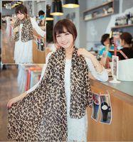 Wholesale Designer Silk Leopard Scarves - Wholesale- Sexy New Style Fashion Long Silk Leopard Shawl Lady Chiffon Designer Scarves Wrap